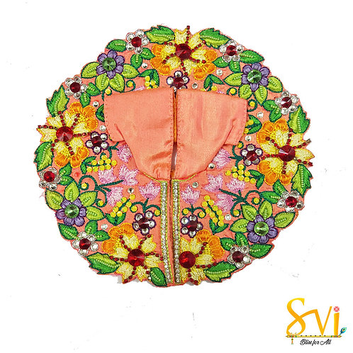 Laddoo Gopal Outfit (Peach with Green)