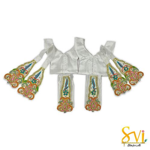 Gaura Nitai Outfit (White Pink)