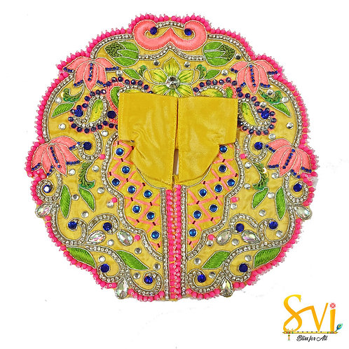 Laddoo Gopal Outfit (Rich Yellow with Pink)