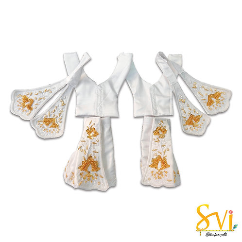 Gaura Nitai Outfit (White with Gold)