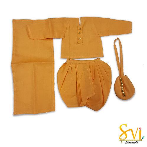 Srila Prabhupad Outfit (For 5 Inch Brass Deity)