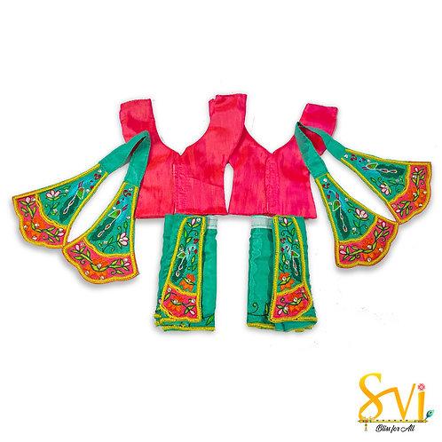 Gaura Nitai Outfit (Sea Green with Magenta)