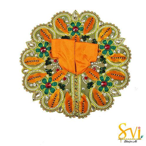Laddoo Gopal Outfit (Green & Orange)