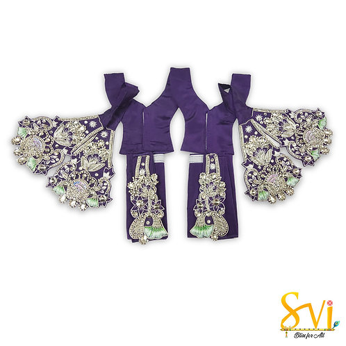 Gaura Nitai Outfit (Violet with Silver)