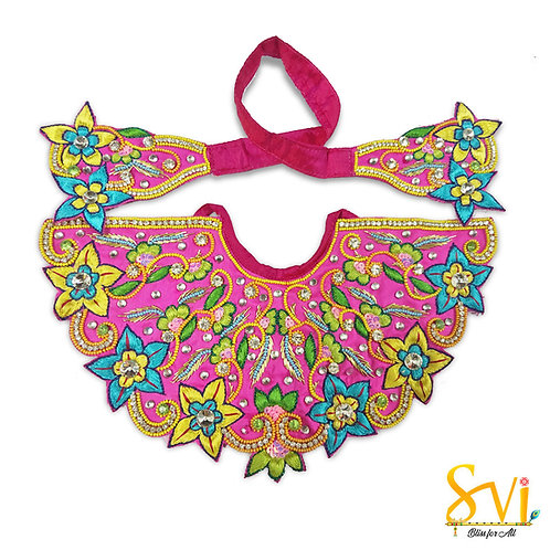Lord Jagannath Outfit (Magenta with Multi Colour)