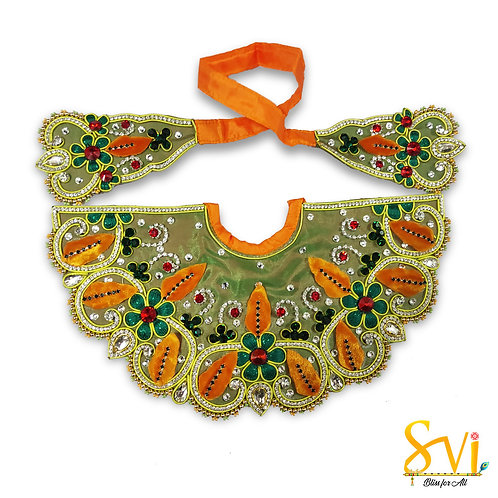 Lord Jagannath Outfit (Green & Orange)
