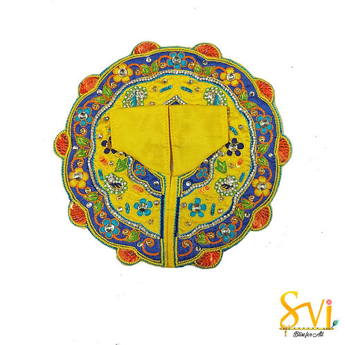 Laddoo Gopal Outfit (Yellow & Blue)