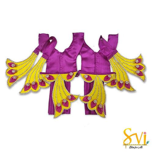 Gaura Nitai Outfit (Designer Set) 4 Inch Dhoti Size
