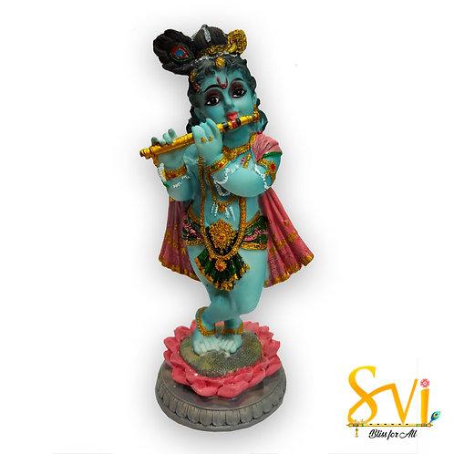 Krishna standing on Lotus