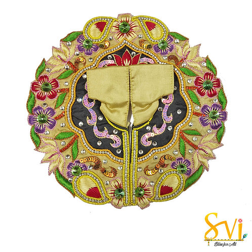 Laddoo Gopal Outfit (Black & Gold)