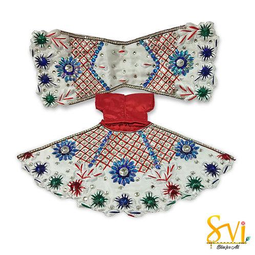 Radha Krishna Outfit (White & Red)
