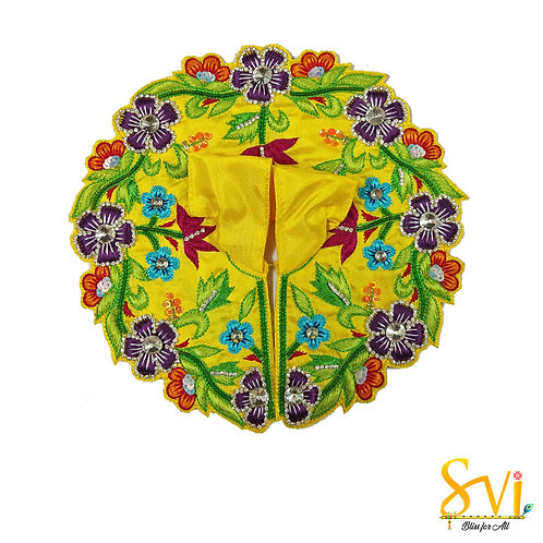 Laddoo Gopal Outfit (Yellow with purple flowers)