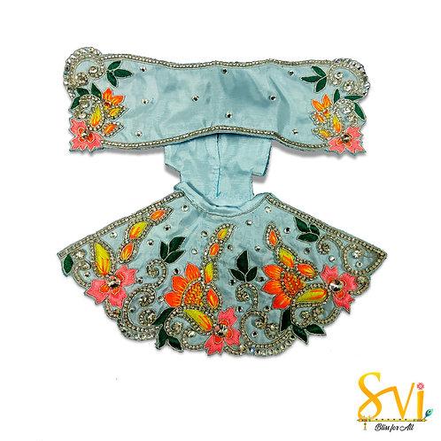 Radha Krishna Outfit (Sky Blue & Orange)