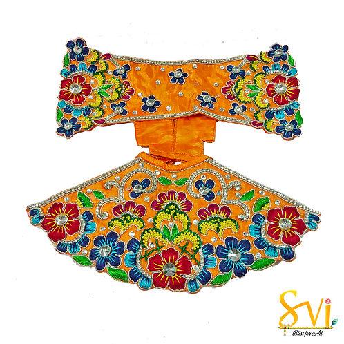 Radha Krishna Outfit (Orange & Blue)