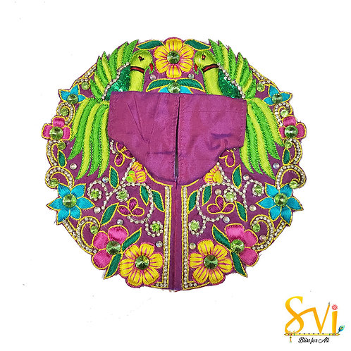 Laddoo Gopal Outfit (Purple & Parrot)