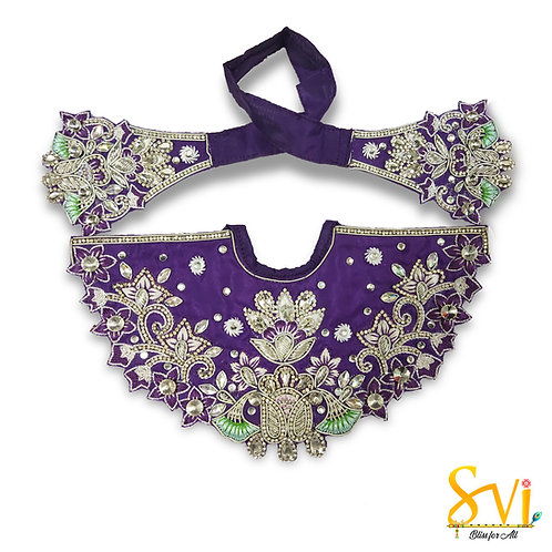 Lord Jagannath Outfit (Violet with Silver)