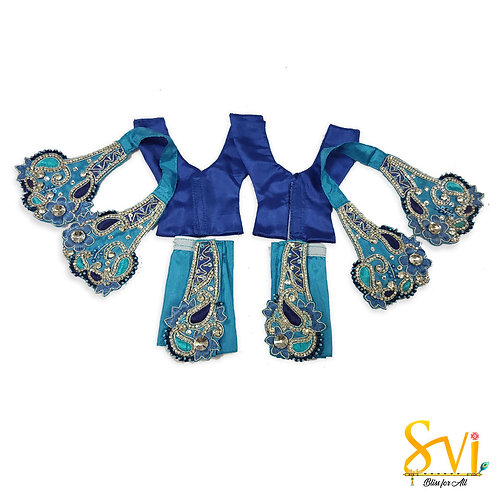 Gaura Nitai Outfit (Blue with Turquoise)