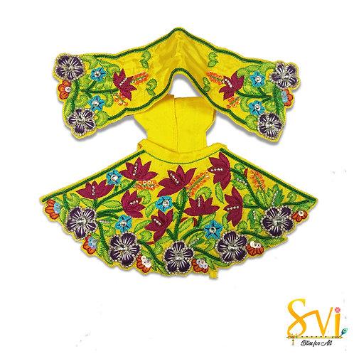 Radha Krishna Outfit (Yellow & Magenta)