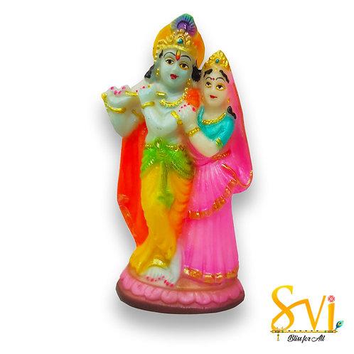 Radha Krishna small Fibre Deity