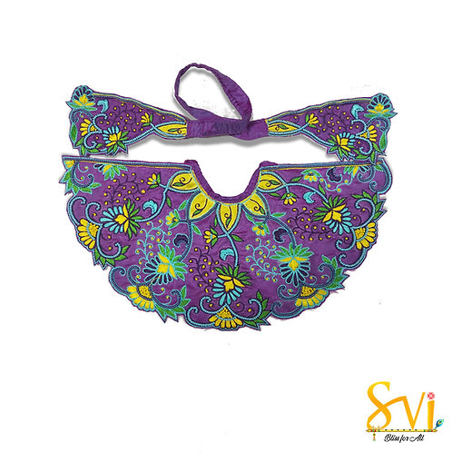 Lord Jagannath Outfit (Violet & Yellow)