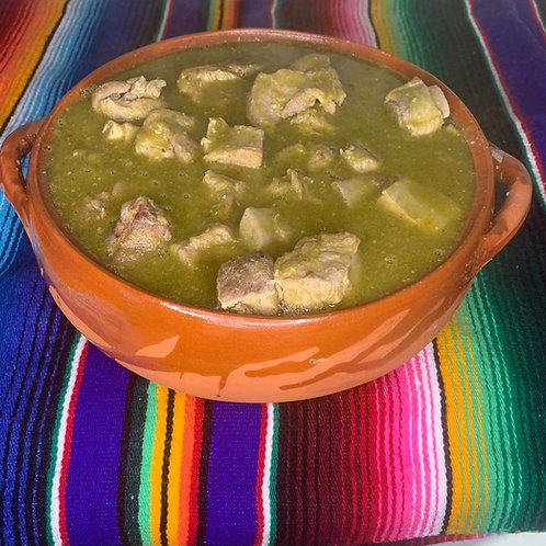 Charola de costillas en salsa verde