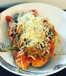 Recipe: leftover Mexican chicken