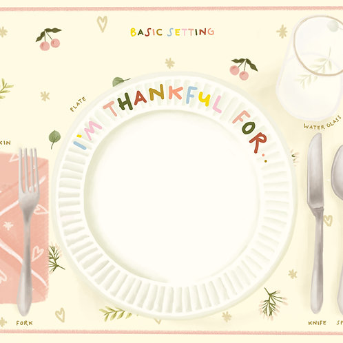 Etiquette Basic Dining Placemat