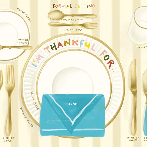 Etiquette Formal Dining Placemat