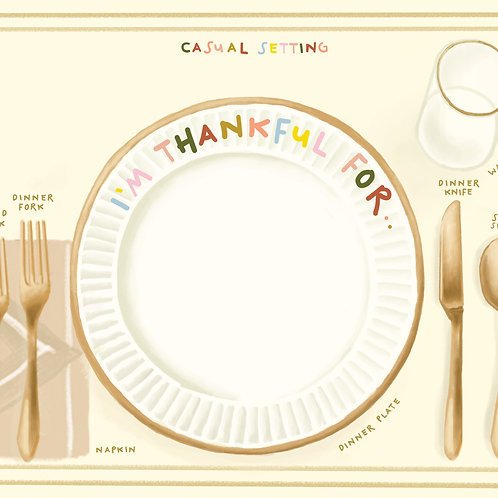 Etiquette Casual Dining Placemat