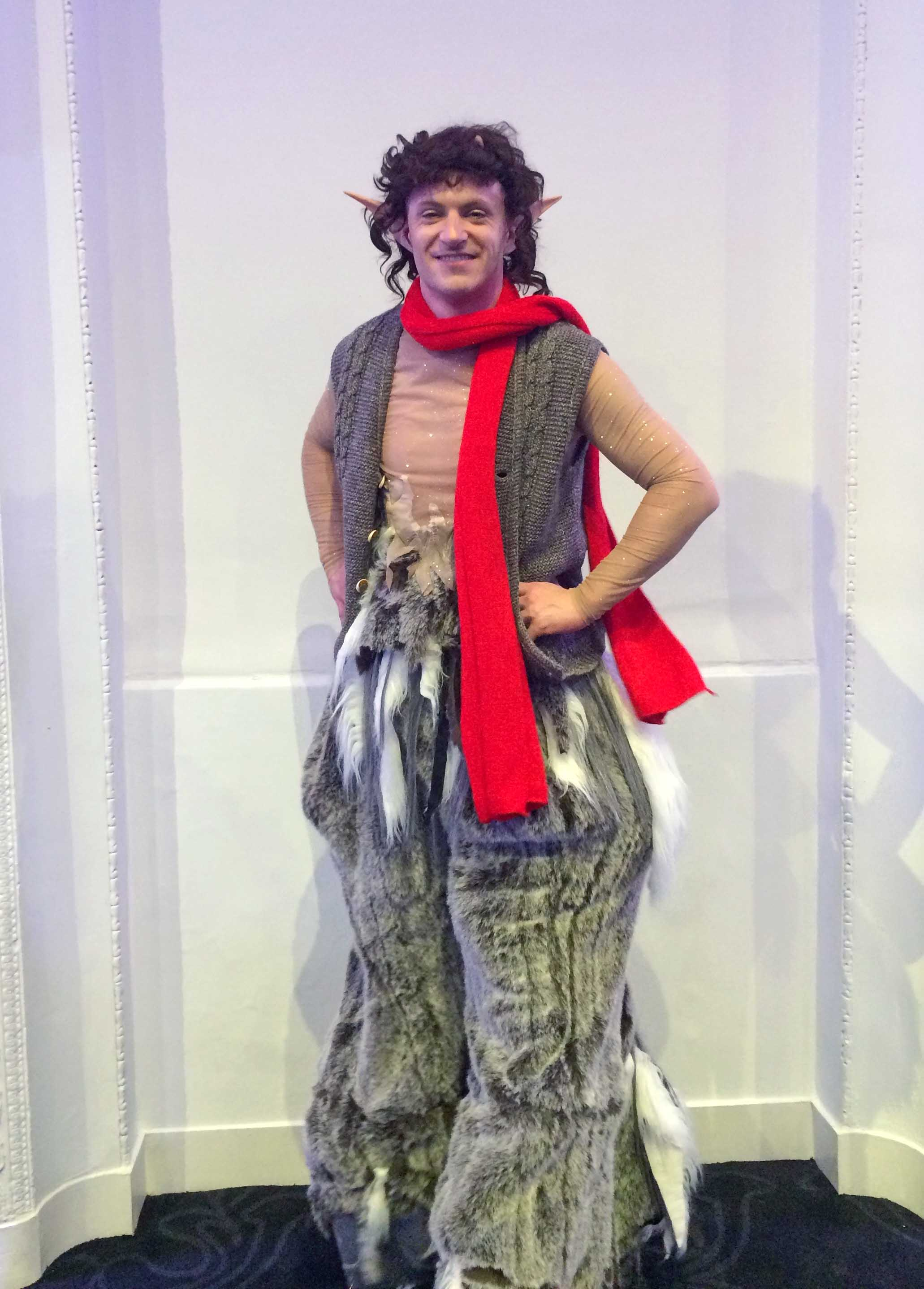 Mr Tumnus bouncy stilts character