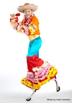 Carnival Carnage bouncy stilts