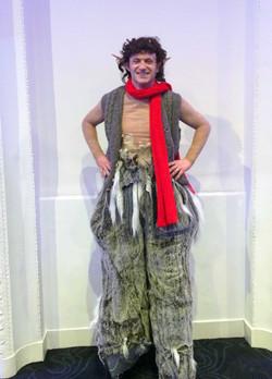 Mr Tumnus bouncy stilts character