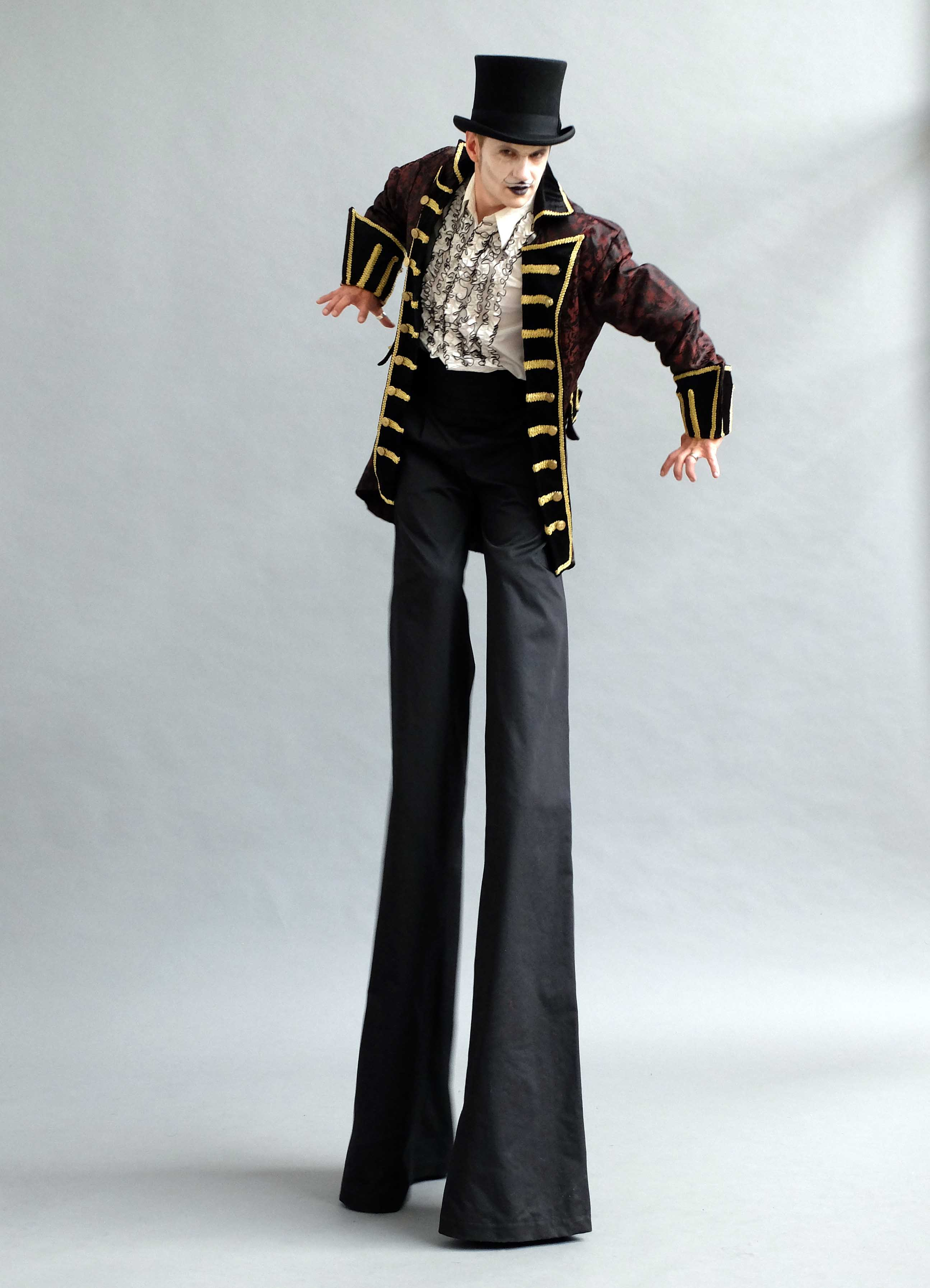 Dark Circus Ringmaster Stilts