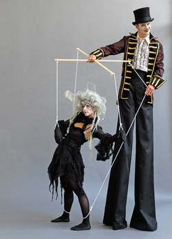 Gothic puppet master walkabout