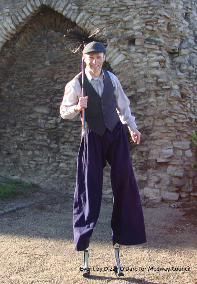Chimney Sweep stilt character