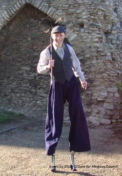 Chimney Sweep stilt character