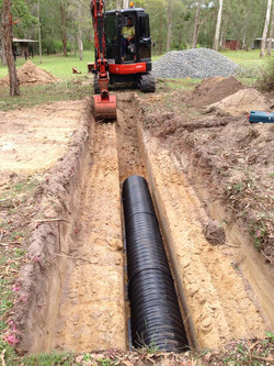New septic evaporation trenches