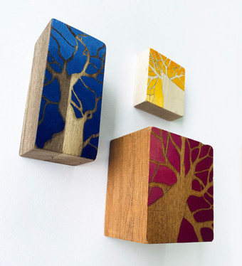 Woodlands Above Triptych