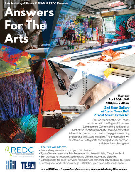 Business Advice for Artists Exeter Flyer