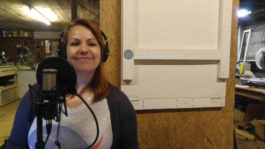 Laura during recording