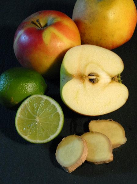 Confiture de pomme aux zestes de citron vert et gingembre frais