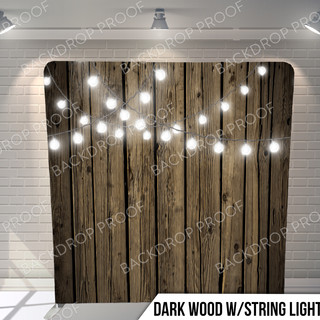 Dark Wood w_String Lights