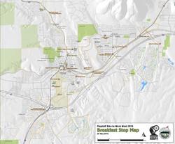 Bike to Breakfast Map