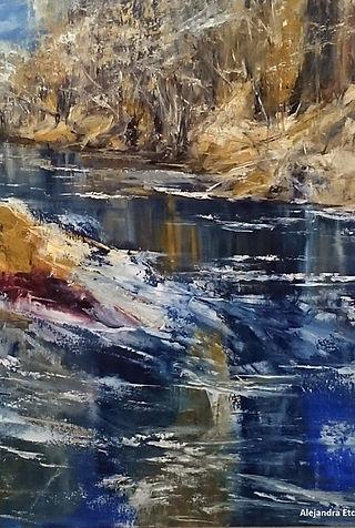 Aguas de invierno - Oleo sobre tela 70 x