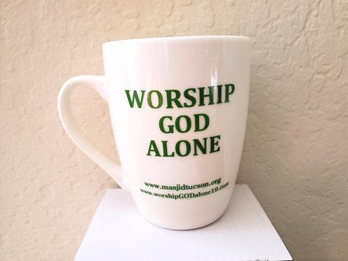 WORSHIP GOD ALONE COFFEE CUP