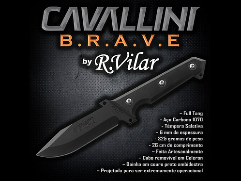Faca Cavallini BRAVE de Sobrevivência