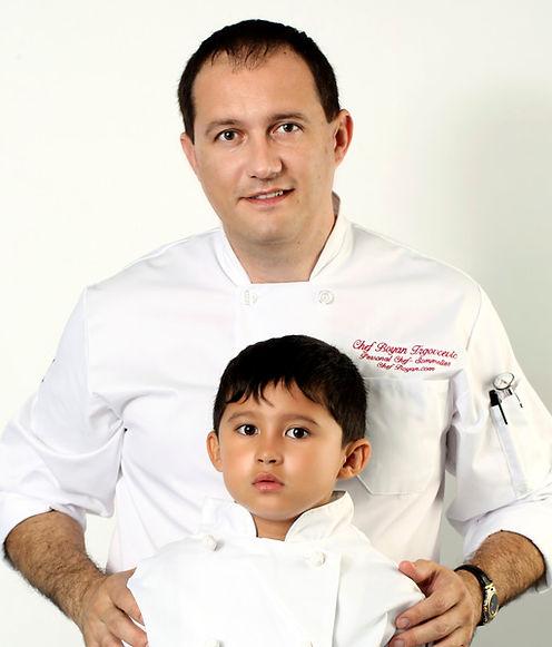 Chef Boyan and his son Nikola