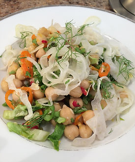 Chick Pea and Pickled Fennel Salad