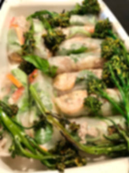 Organic Shrimp and Chicken Spring Rolls