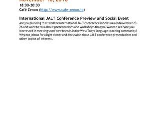 International JALT Conference Preview and Social Event